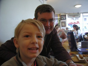 A shot taken at my brother Pete's birthday lunch just two days before Max was admitted to hopsital. He wasn't quite five.